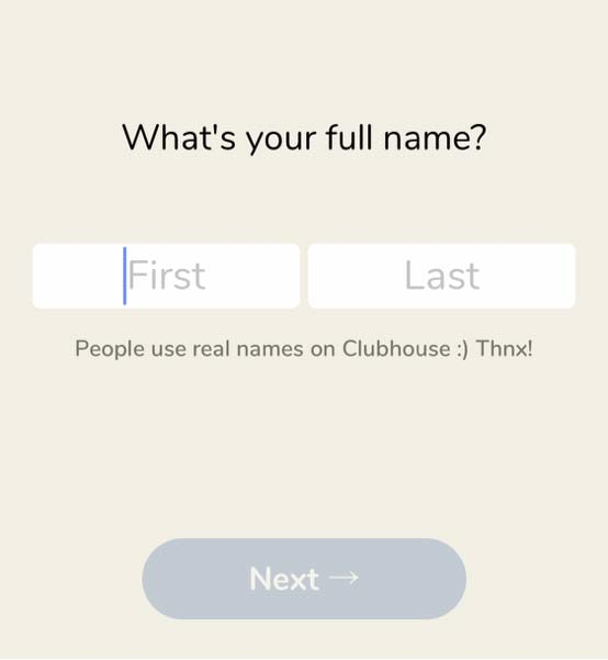 clubhouseのアカウント登録方法